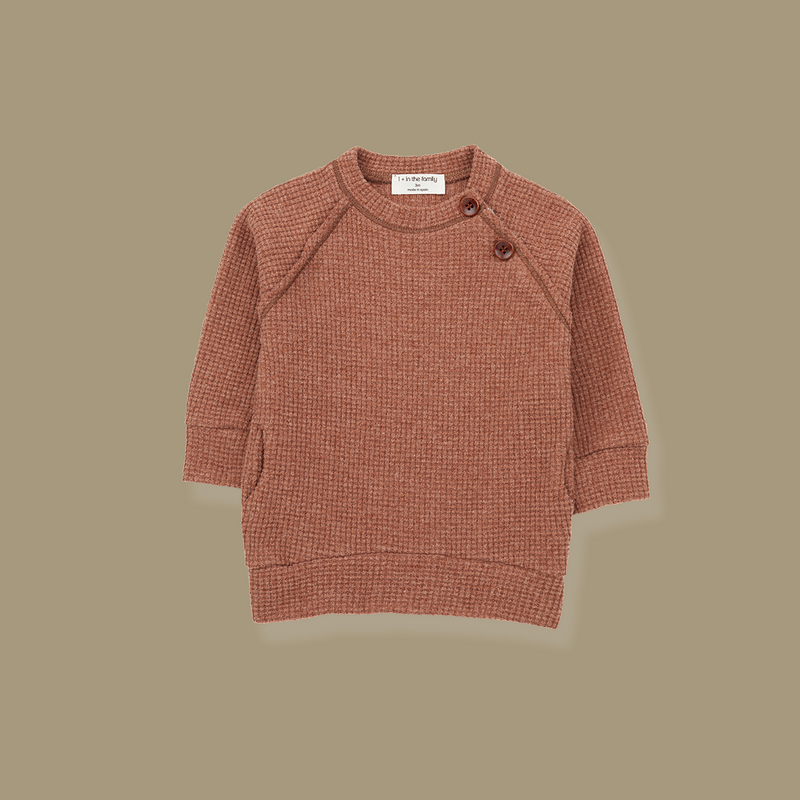Cortina Long Line Sweatshirt (Rose)