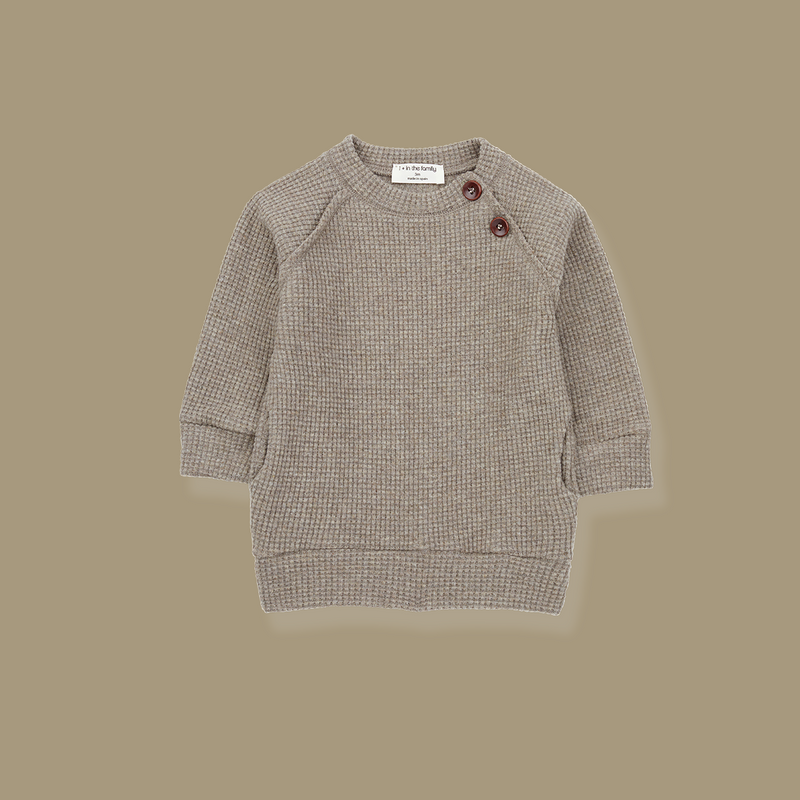 Cortina Long Line Sweatshirt (Toffee)