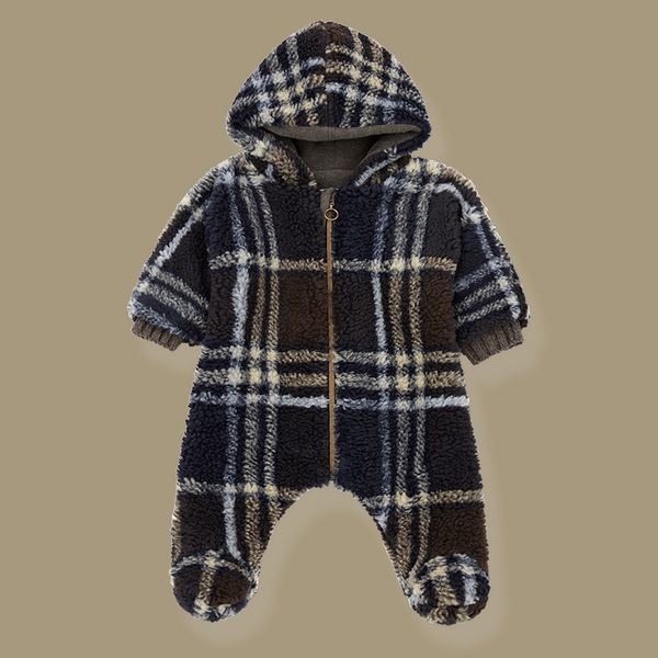 Montreal Check Polar Teddy Pramsuit Snowsuit