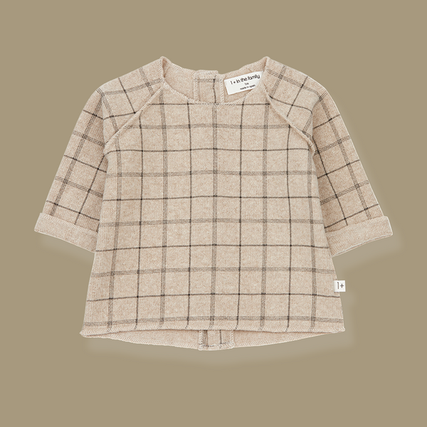 Gaspard Check Soft Knit Sweater