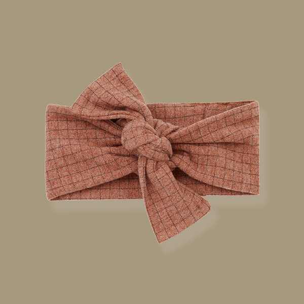 Aralau Knotted Bow Headband (Toffee)
