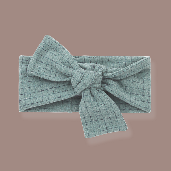 Aralau Knotted Bow Headband (Sea Blue)