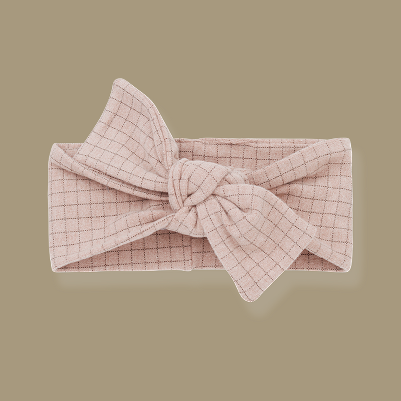 Aralau Knotted Bow Headband (Rose)