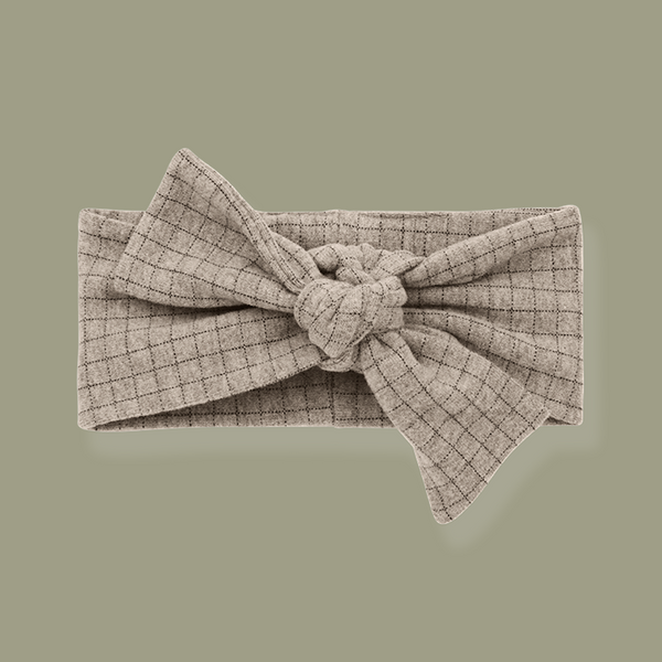 Aralau Knotted Bow Headband (Beige)