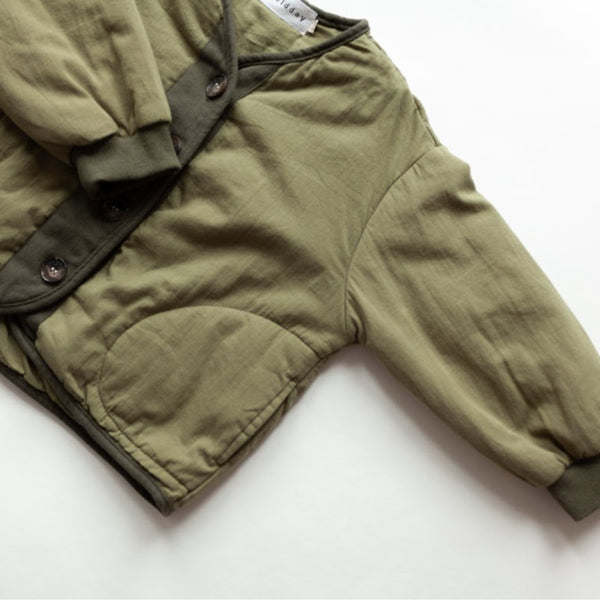 Nara Padded Button Up Jacket (Khaki)