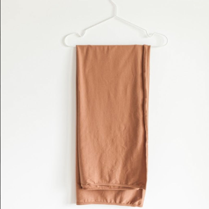 Extra Soft Jersey Cotton Large Swaddle/Blanket (Clay)