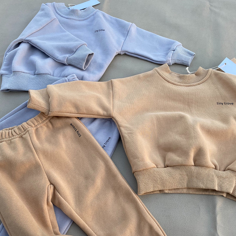 MAMA Woodie Logo Tracksuit Set (Fawn Sand)