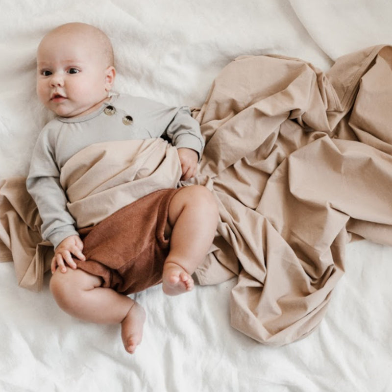 Extra Soft Jersey Cotton Large Swaddle/Blanket (Nude)