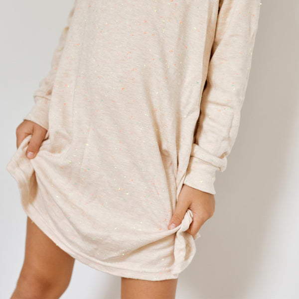 Confetti Long Sleeve Lounge Night Dress