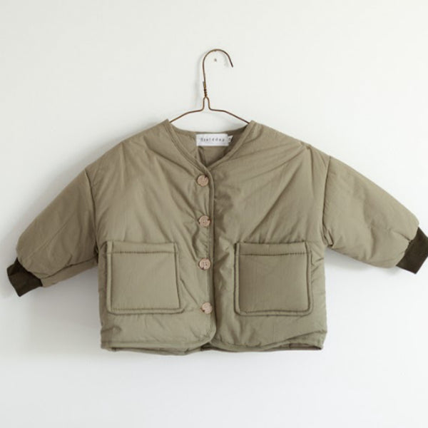 Japan Padded Button Up Jacket (Sage)