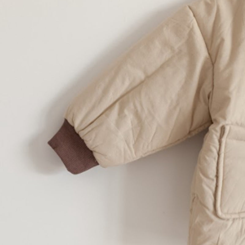 Japan Padded Button Up Jacket (Beige)