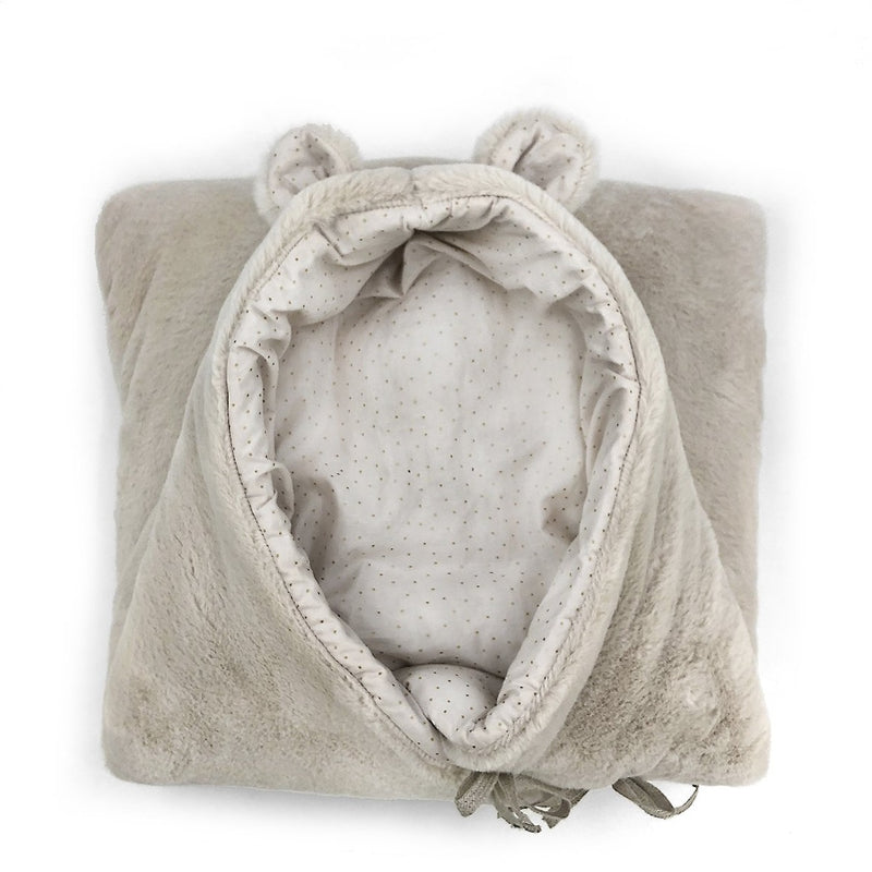 Soft Beige Bear Nest with Harness Openings