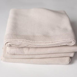 Kindly Cotton Knitted Blanket (Vanilla Sugar)
