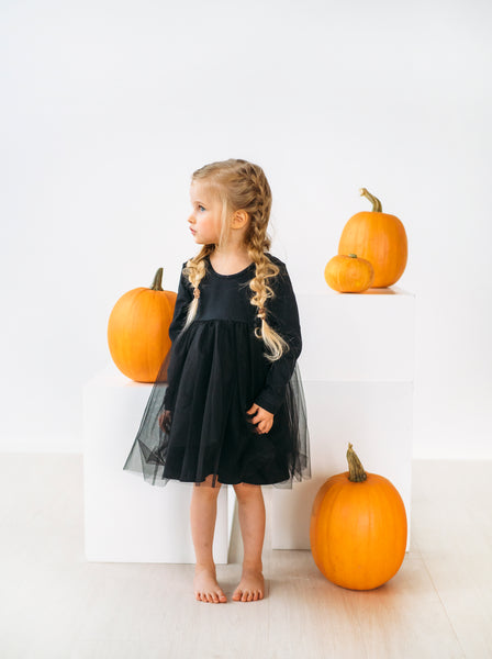 Gugguu Tulle dress for kids. Children's black tulle dress.