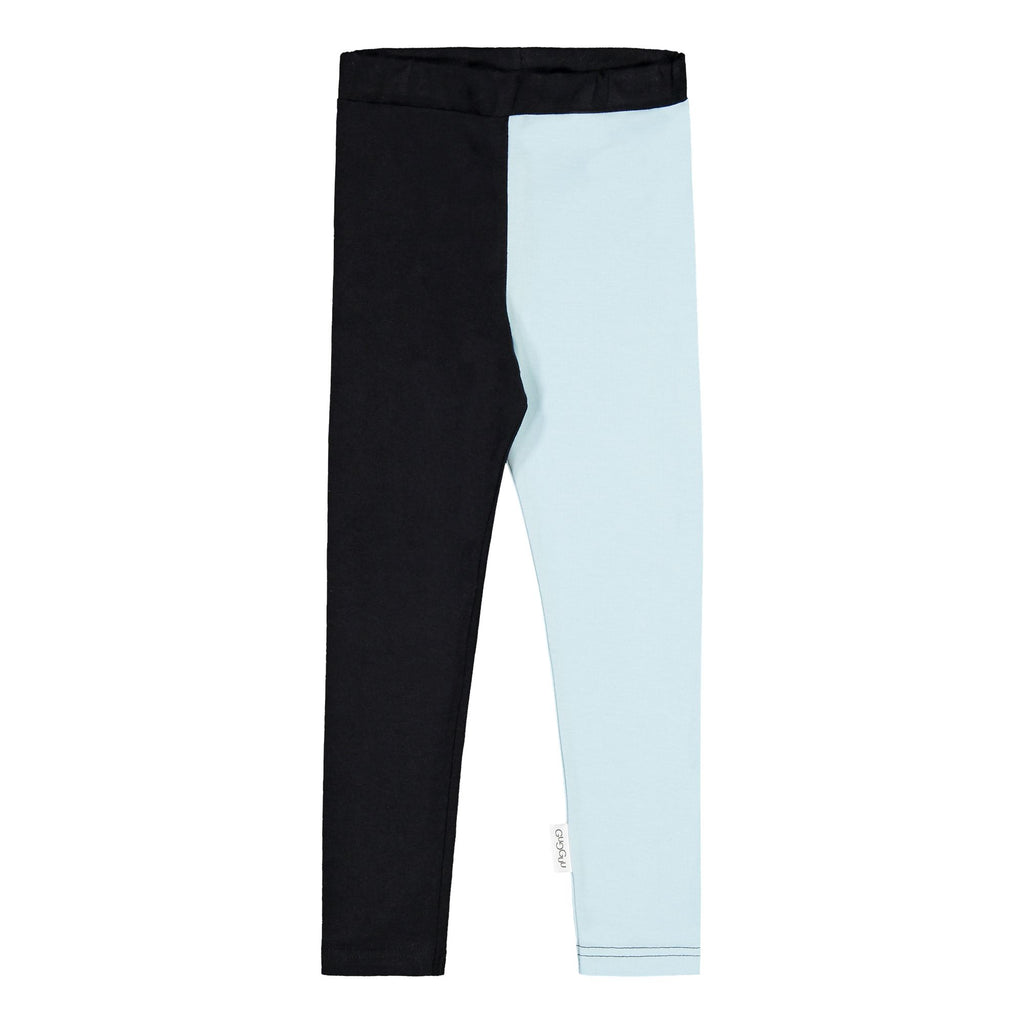 gugguu 2-Color Leggings Leggings Black / Baby Blue 140