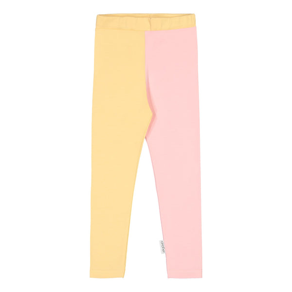 gugguu 2-Color Leggings Leggings Honey / Romance Pink 92