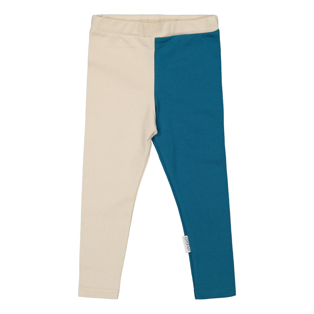 gugguu 2-Color Leggings Leggings Latte/ Ocean 104/4Y