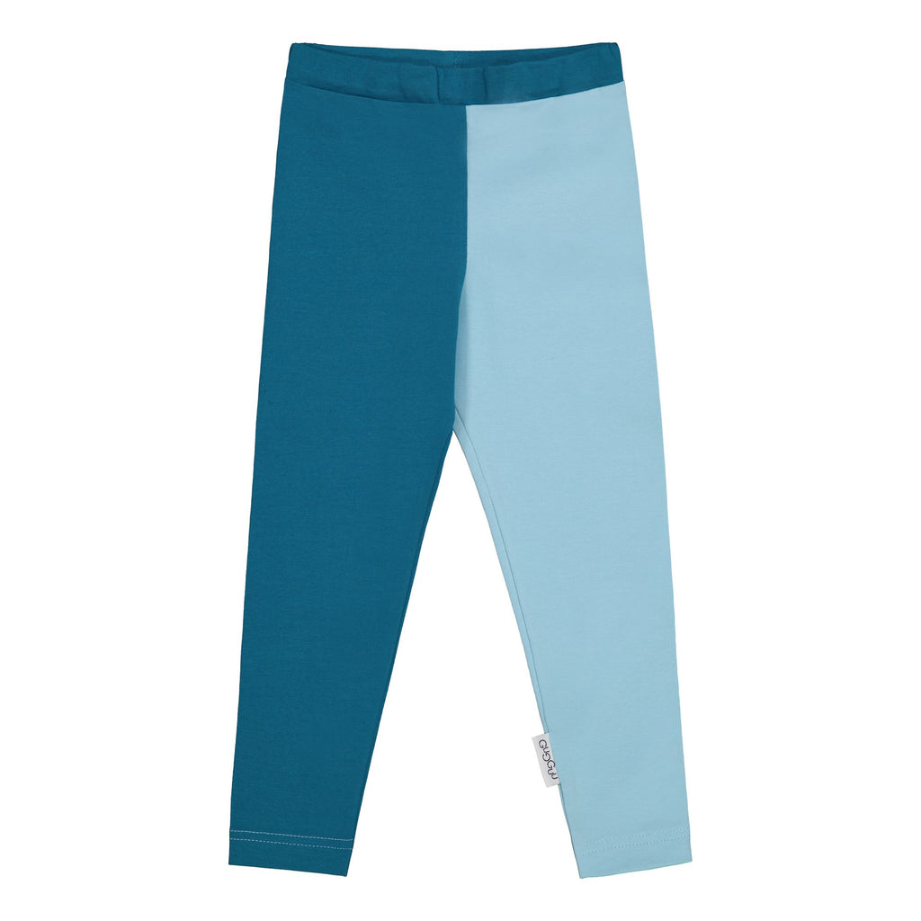gugguu 2-Color Leggings Leggings Ocean/ Summer Sky 104/4Y