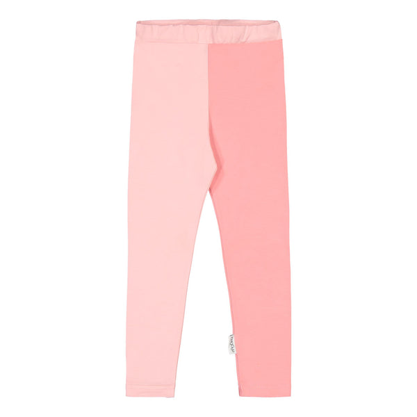 gugguu 2-Color Leggings Leggings Romance Pink / Pastel Coral 140