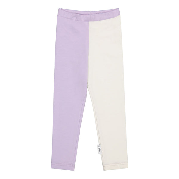 gugguu 2-Colored Leggings Leggings Lavender / White candy 110/5Y