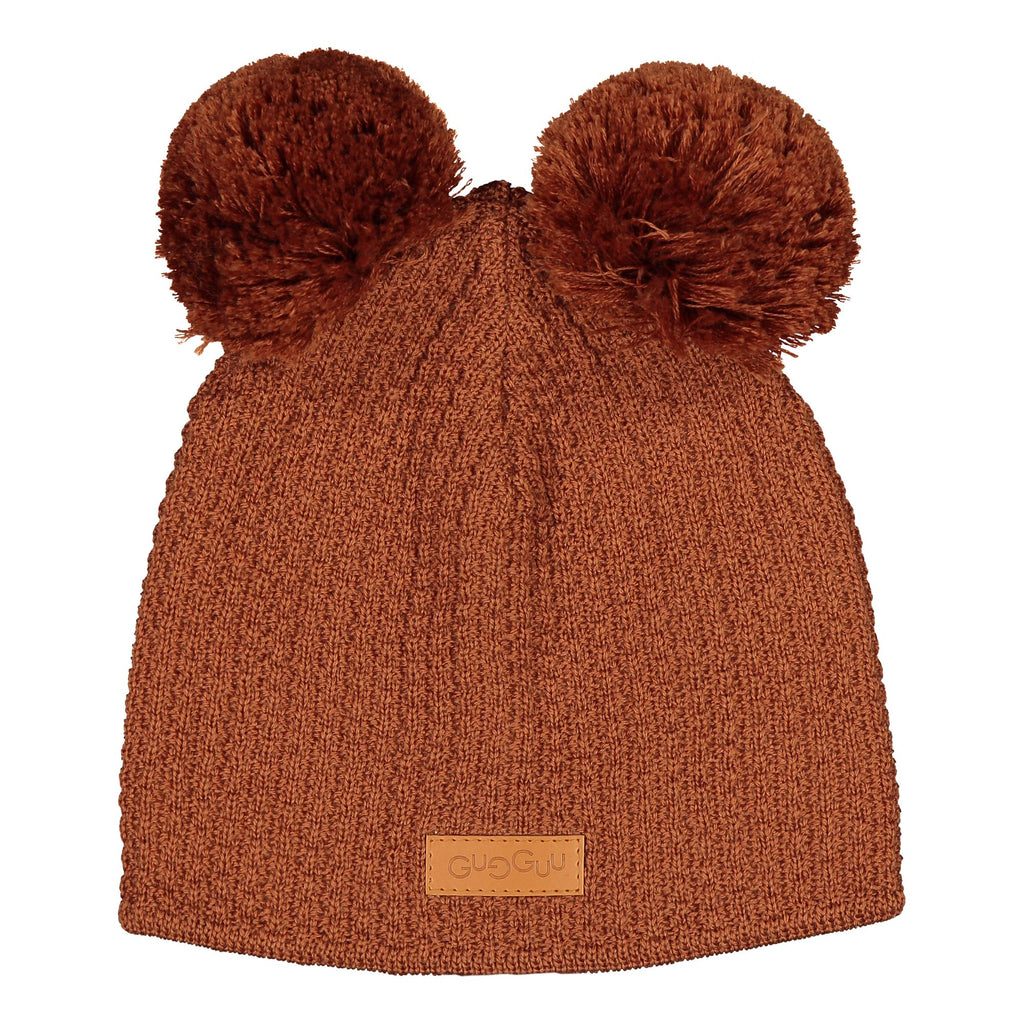 gugguu 2-Tuft Beanie Headwear Brown Sugar XS