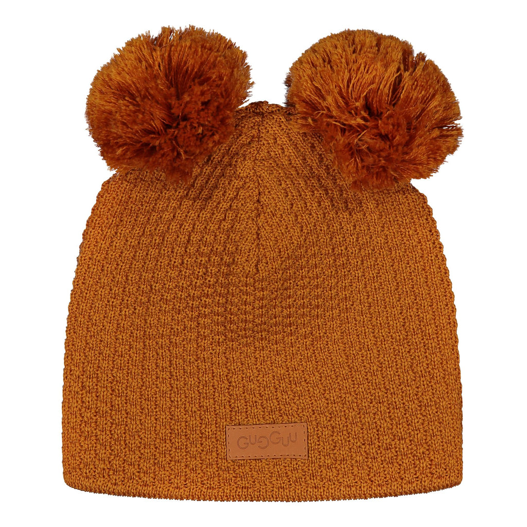 gugguu 2-Tuft Beanie Headwear Tanned Yellow L
