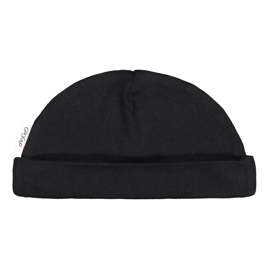 gugguu Baby Cotton Beanie Headwear Black XXXS
