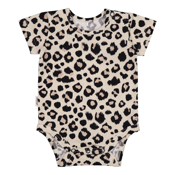 gugguu Baby SS Print Bodysuit Bodysuits Ginger Leopard 50
