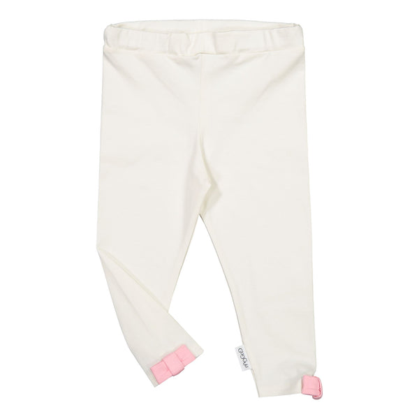 gugguu Bow Leggings Leggings White candy / Bubble gum 80/1Y