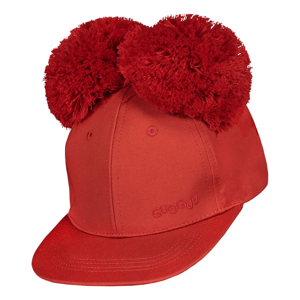gugguu Cap with two tufts Headwear Spicy red XS