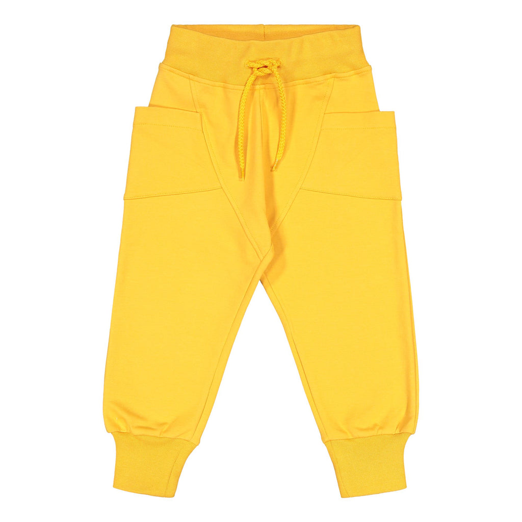 gugguu College Baggy Pants Sun Gold 80