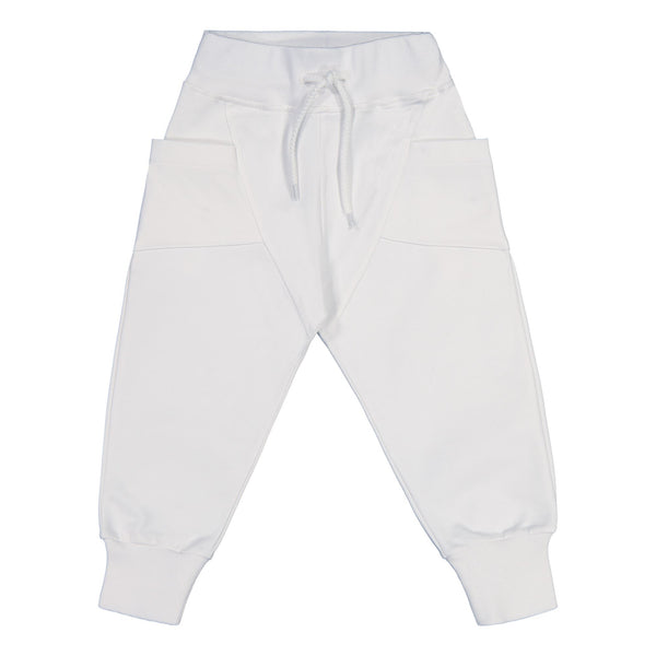 gugguu College Baggy Pants White Sand 80