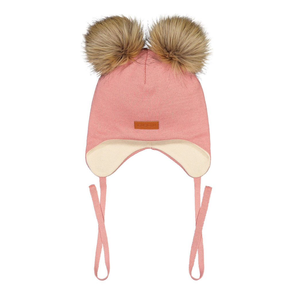 gugguu Double Furry Baby Beanie Headwear Frosty Rose XXXS