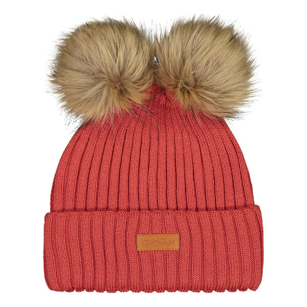 gugguu Double Furry Beanie Headwear Ruddy Red XS