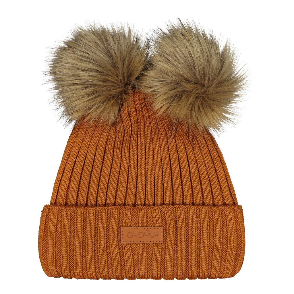 gugguu Double Furry Beanie Headwear Tanned Yellow L