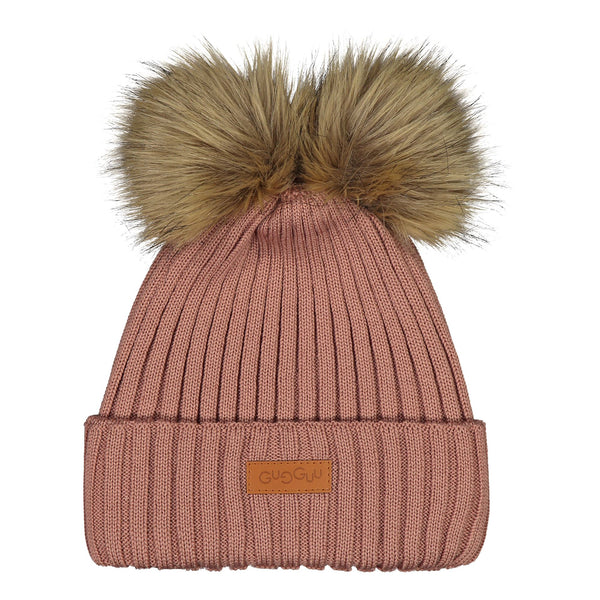 gugguu Double Furry Beanie Headwear Vintage Rose L