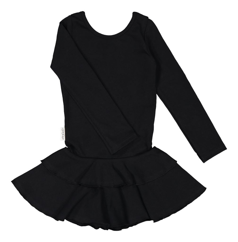 gugguu Frilla Dress Dresses Black 80/1Y