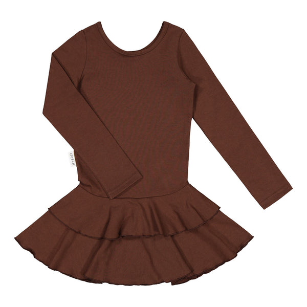 gugguu Frilla Dress Dresses Cocoa Bear 62