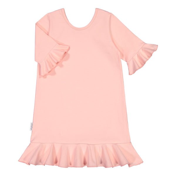 gugguu Frilla Nightdress Pajamas Satin Pink 80