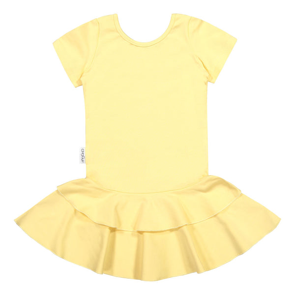 gugguu Frilla T-shirt Dress Dresses Banana 80/1Y