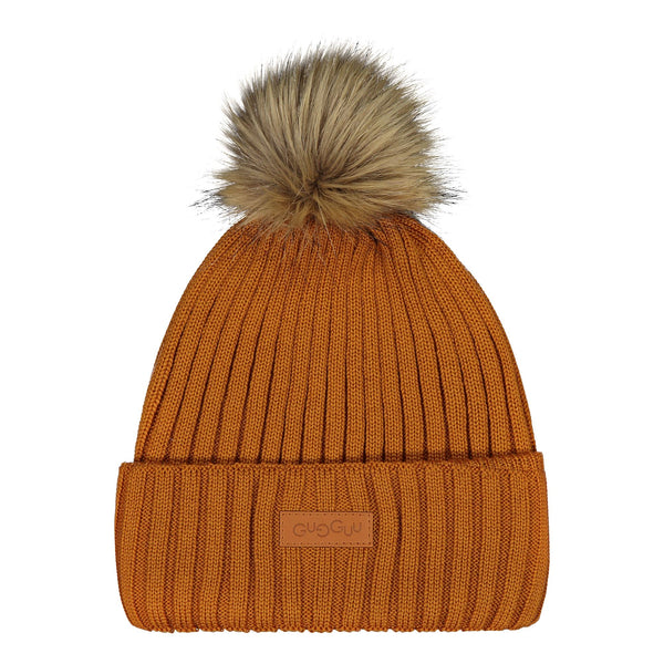 gugguu Furry Beanie Headwear Tanned Yellow L