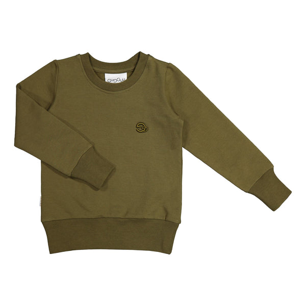 gugguu Gg Logo Sweatshirt Hoodies and sweatshirts Olive Green 80
