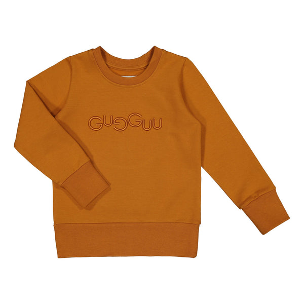 gugguu Logo Sweatshirt Hoodies and sweatshirts Tanned Yellow 80