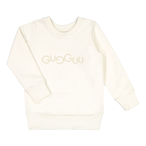 gugguu Logo Sweatshirt Hoodies and sweatshirts White candy 80/1Y