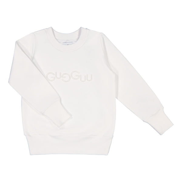 gugguu Logo Sweatshirt Hoodies and sweatshirts White Sand 80