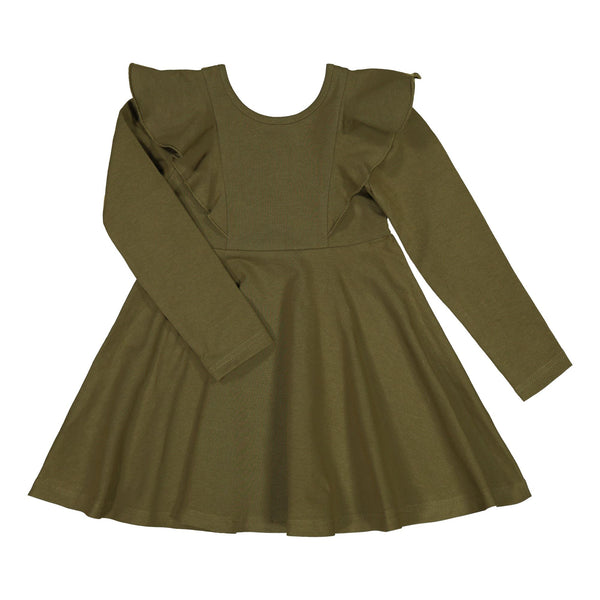 gugguu Long sleeve Rizi Dress Dresses Olive Green 80