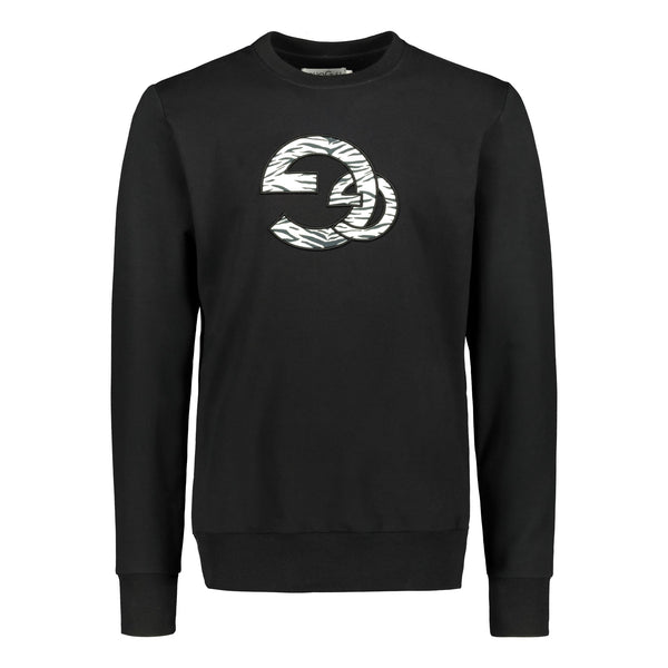 gugguu Men's Gg Logo Sweatshirt Men's tops Black XS