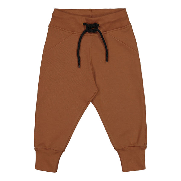 gugguu Outlet Basic Baggy Pants Brown Sugar 80