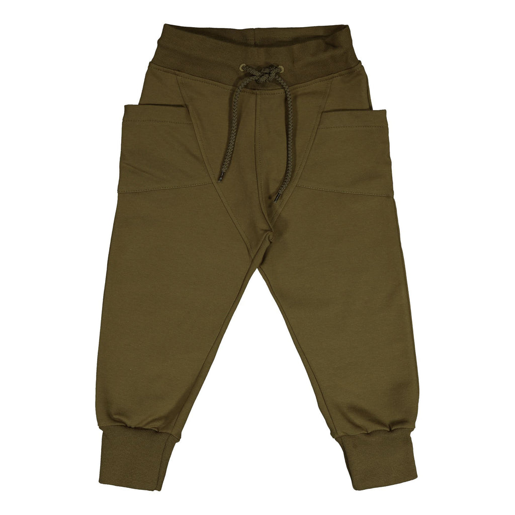 gugguu Outlet College Baggy Pants Olive Green 80
