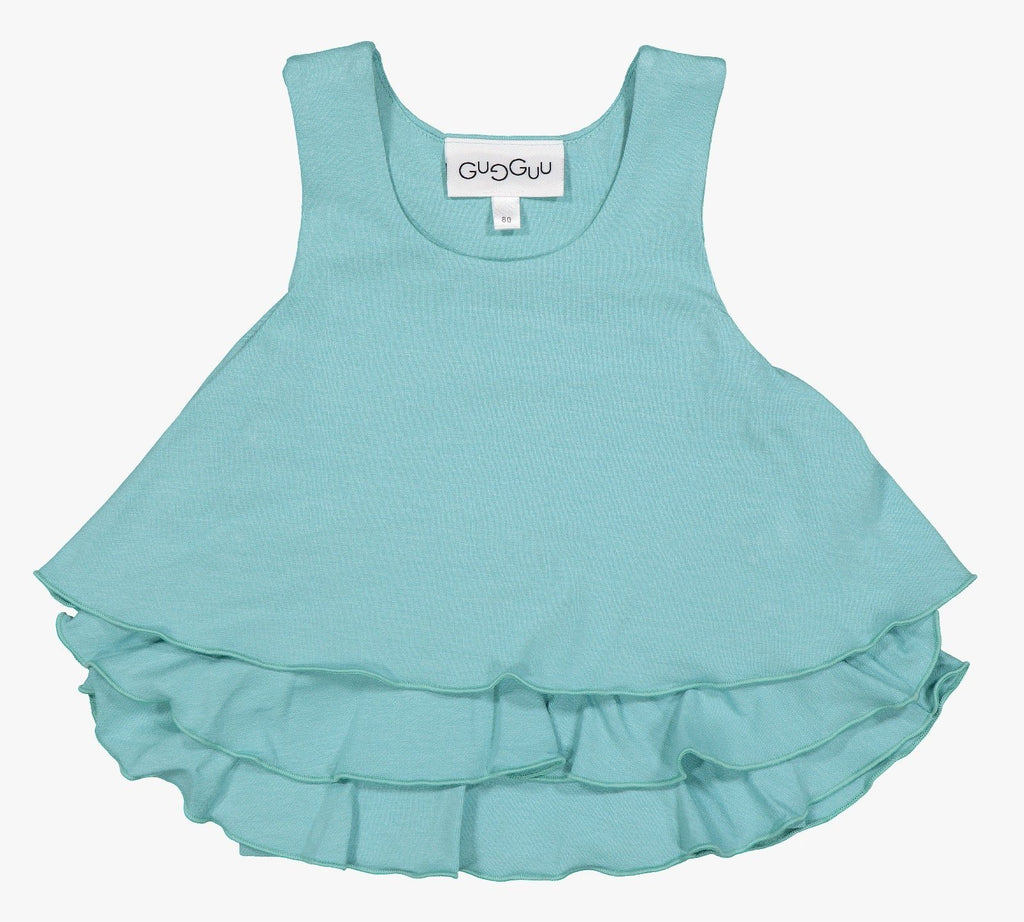 gugguu Outlet Frilla Top Shirts Sea Blue 80